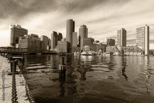 Boston Harbor in Massachusetts