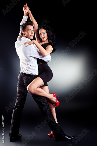 Foto op Canvas Dance School latin dance