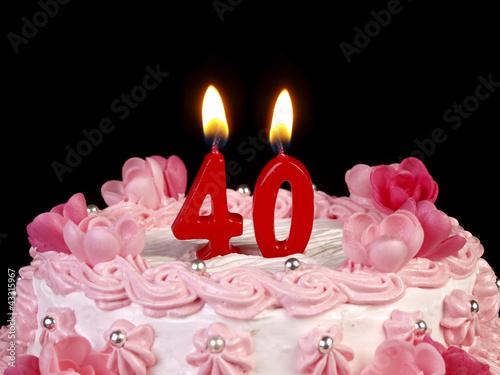 Fotografia  Birthday-anniversary cake with candles  Nr. 40
