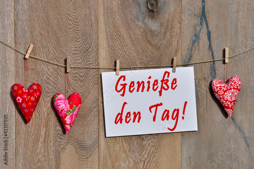 Fotografie, Obraz  Genieße den Tag