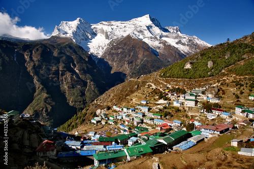 Staande foto Nepal Namsche Bazar in Nepal