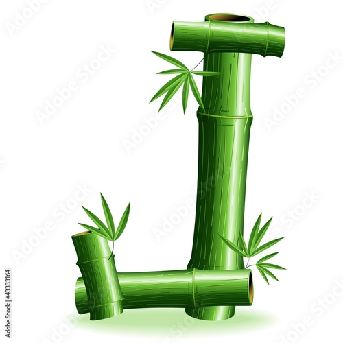 Foto auf AluDibond Ziehen Bambù Lettera J - Bamboo Logo Sign Letter J - Vector