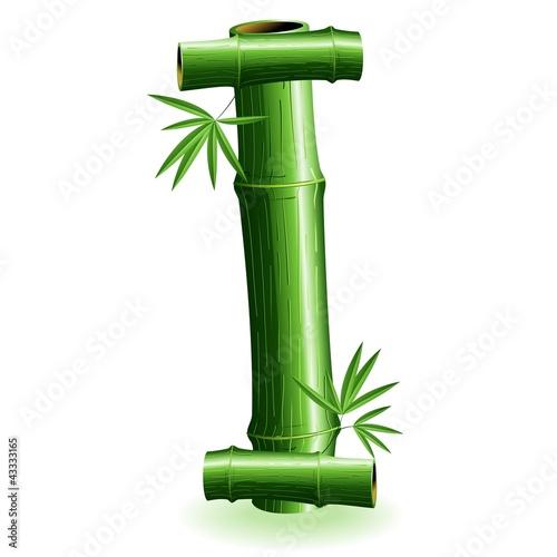 Foto auf AluDibond Ziehen Bambù Lettera I - Bamboo Logo sign Letter I - Vector