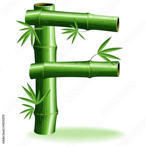 Foto auf AluDibond Ziehen Bambù Lettera F - Bamboo Logo sign Letter F - Vector