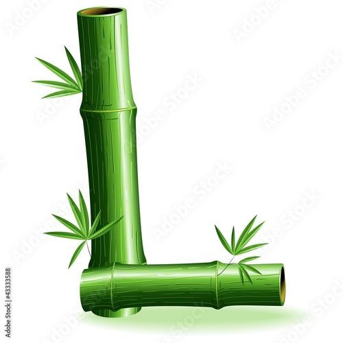 Foto auf AluDibond Ziehen Bambù Lettera L - Bamboo Logo Sign Letter L - Vector
