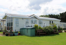 Modern Static Caravan On Camps...