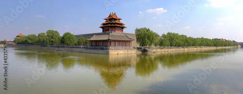 Photo Stands Beijing forbidden city, turret, Beijing, China
