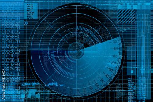 Fotomural  Abstract radar illustration