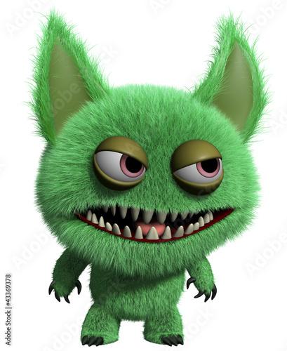 Photo sur Toile Doux monstres 3d monster