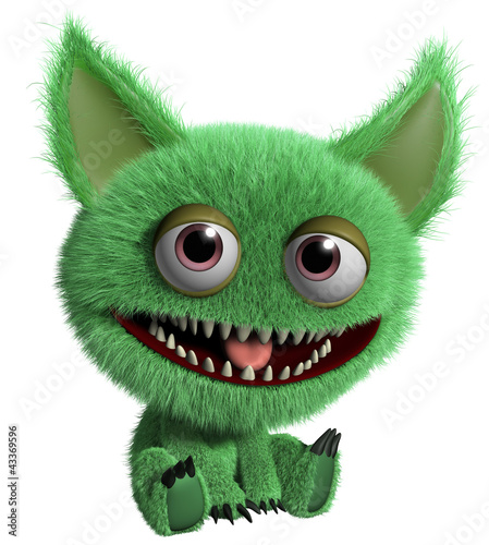 Tuinposter Sweet Monsters green troll