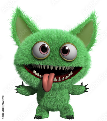 Foto op Aluminium Sweet Monsters furry gremlin