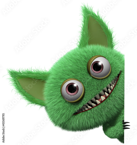 Poster de jardin Doux monstres cartoon monster