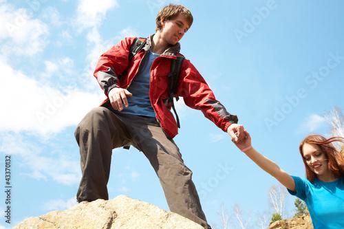 In de dag Alpinisme mountaineering