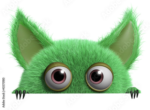 Foto op Plexiglas Sweet Monsters furry gremlin