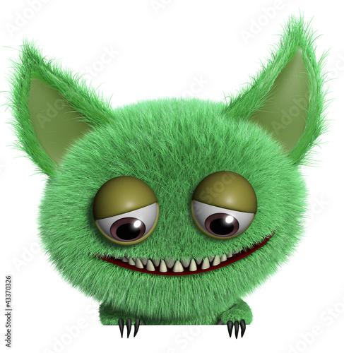 Garden Poster Sweet Monsters furry gremlin