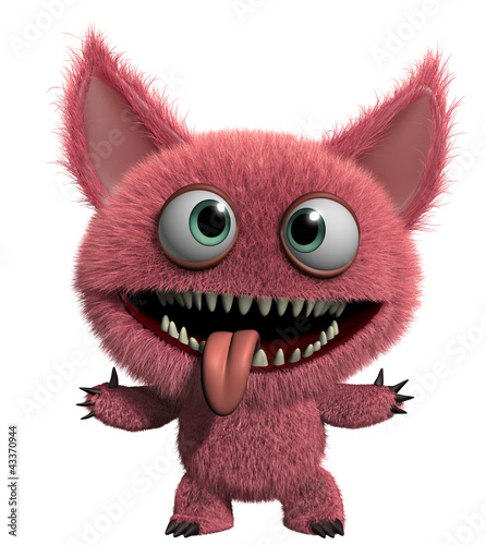 Keuken foto achterwand Sweet Monsters furry gremlin