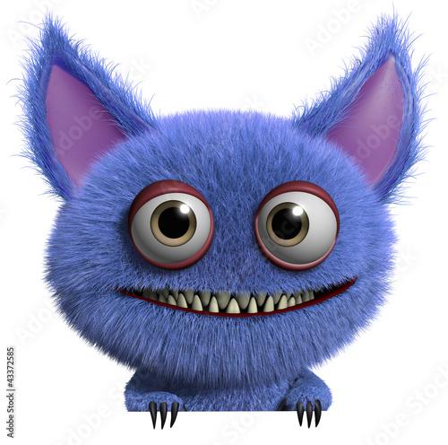 Foto op Aluminium Sweet Monsters furry gremlin