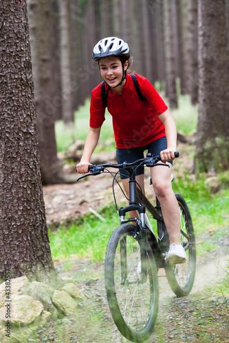 Aluminium Prints Cycling Girl biking