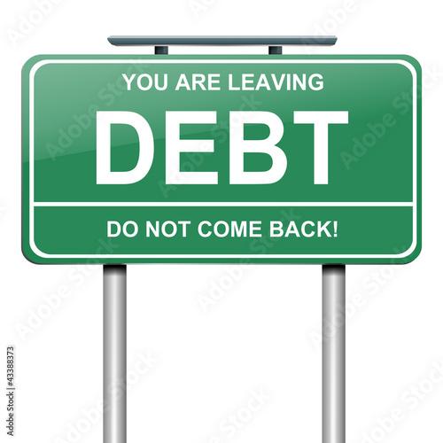 Fotografía  Debt concept.