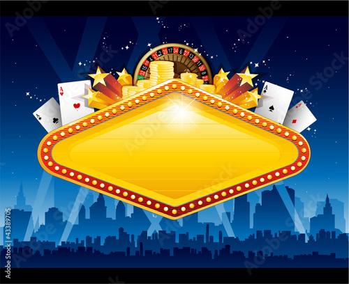 Photo  Casino city background