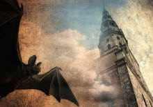 Mystical Background, Bat And O...