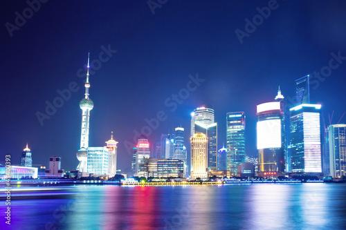 night scene of shanghai Poster