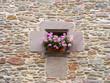 Ventana en pared de piedra, Rupit, Barcelona