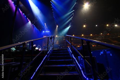 Foto Aufgang zur Bühne