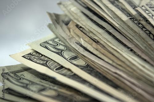 Fotografia, Obraz  US Money Stack Background 1
