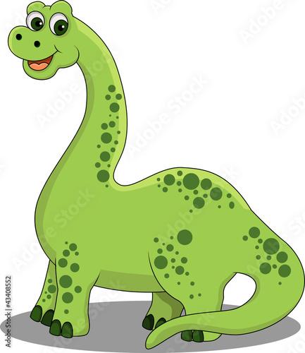 Keuken foto achterwand Dinosaurs funny cartoon dinosaur