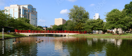 Panoramic cityscape of Huntsville, Alabama Wallpaper Mural