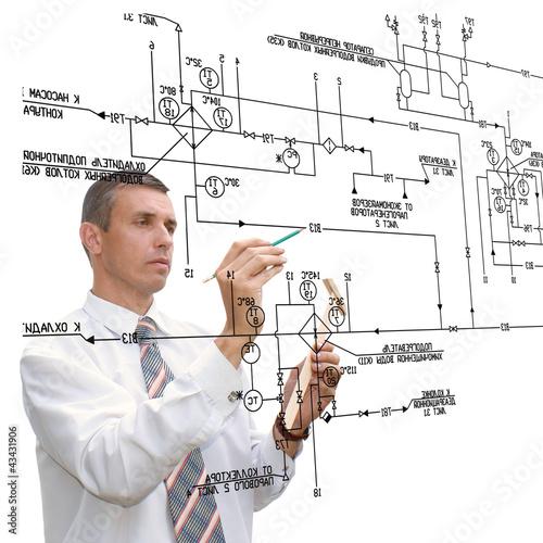 Fotografie, Obraz  Designing engineering automation system
