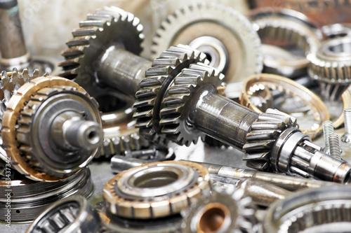 Fotografía  Close-up of automobile engine gears