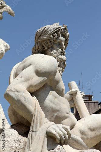 Fontana dei 4 Fiumi, Roma - il Gange III