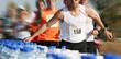 Marathoniens au ravitaillement, marathon