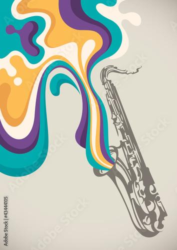 saksofon-z-plynna-abstrakcja