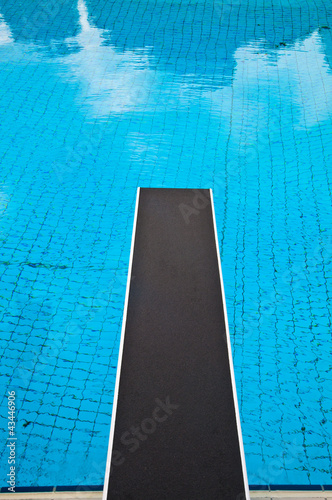 Jumping board in a swimming pool - Buy this stock photo and explore ...