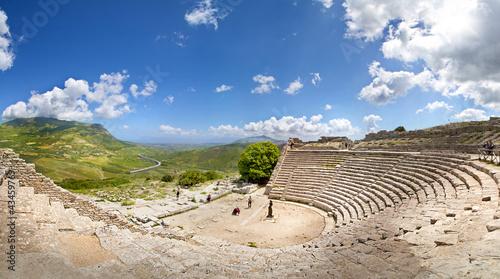 Fotografie, Obraz  Teatro di Segesta, Sicily, Italy