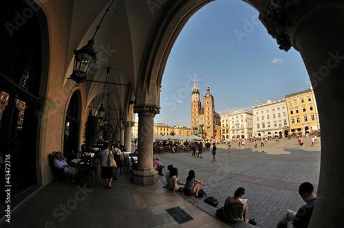 Foto op Canvas Krakau Old Town square in Krakow, Poland