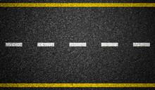 Asphalt Highway With Road Mark...