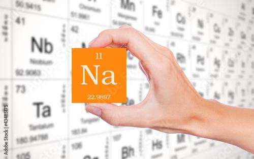 Sodium symbol handheld in front of the periodic table buy this sodium symbol handheld in front of the periodic table urtaz Gallery