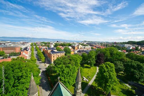 Fototapeta View of the city of Trondheim obraz na płótnie