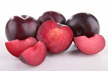 Isolated Red Plum