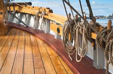 Close-up Shot Of Rope. Taken At A Shipyard.