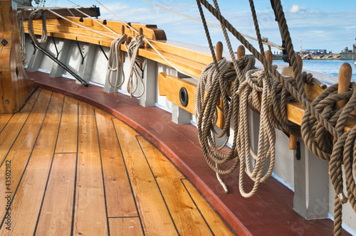 Canvas Prints Ship Close-up shot of rope. Taken at a shipyard.