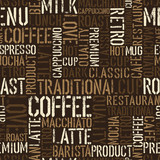 Seamless coffee experience pattern. Vector, EPS8.