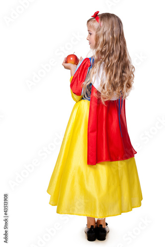 Fotografie, Obraz  a little girl dressed as Snow White