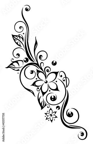 tendril-flora-kwiaty-platki-liscie-liscie-czarny