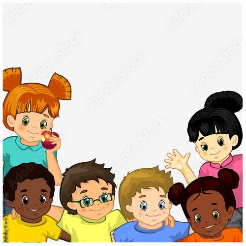 In de dag Regenboog Children white background