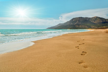 Footprints On The Patara Beach...
